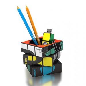 Pot à crayons Rubik's Cube publicitaire