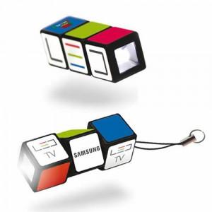 Lampe de poche Rubik's Cube publicitaire